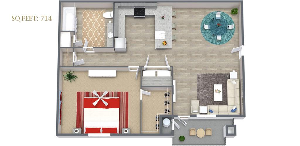 Carson Hills Apartments - Carson City NV - 1 Bedroom 1 Bathroom
