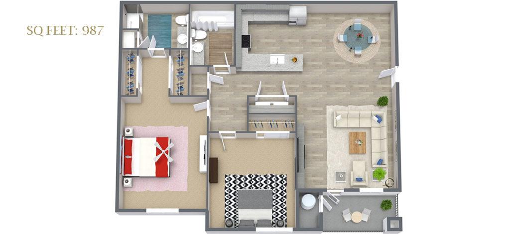 Carson Hills Apartments - Carson City NV - 2 Bedroom 2 Bathroom