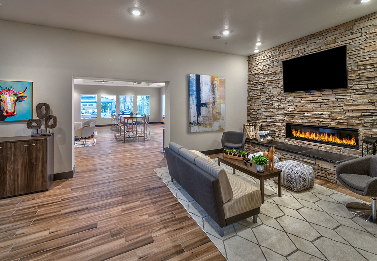 Carson Hills Apartments - Carson City NV - Clubhouse - Den Fireplace