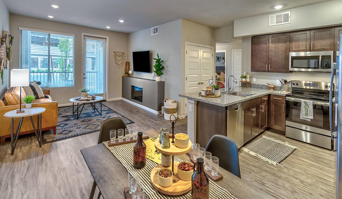 Carson Hills Apartments - Carson City NV - Living Room & Kitchen